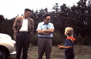 Martin og far og lille mig. ca. 1975.