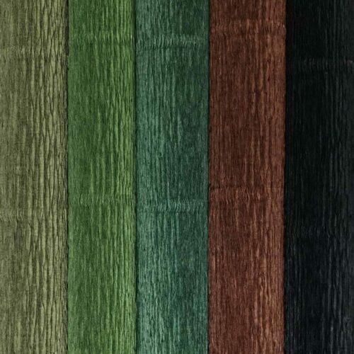grøn blanding crepepapir