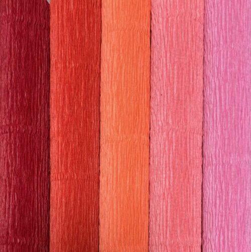 rød farveblanding crepepapir