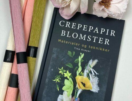 Materialer som er brugt i bogen om crepepapirblomster