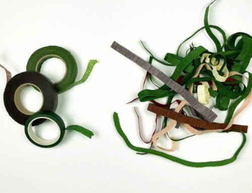 Crepepapirblomster: Floratape eller crepepapir til stilken?