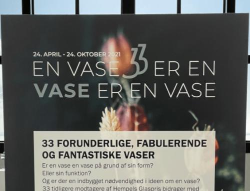 Blomsteroplæg på Hempel Glasmuseum